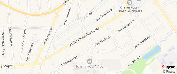 Улица Панфилова на карте поселка Клетня с номерами домов