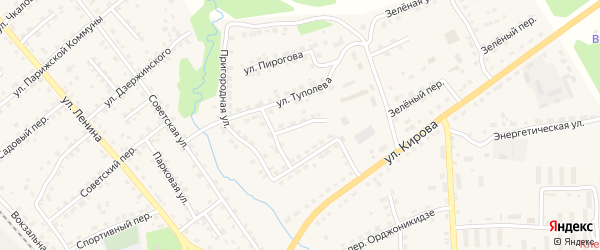 Пригородный переулок на карте поселка Клетня с номерами домов