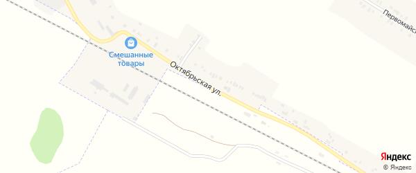 Октябрьская улица на карте поселка Белевицы с номерами домов