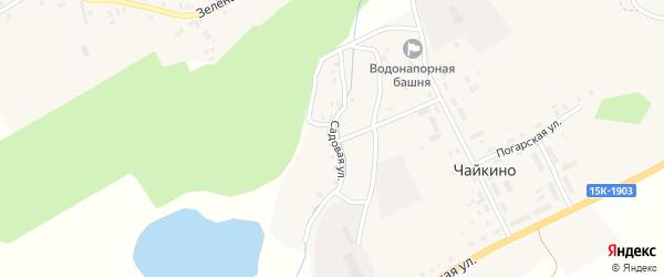 Садовая улица на карте поселка Чайкино с номерами домов