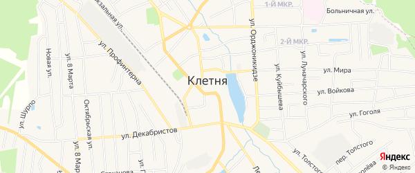 Карта поселка Клетня в Брянской области с улицами и номерами домов