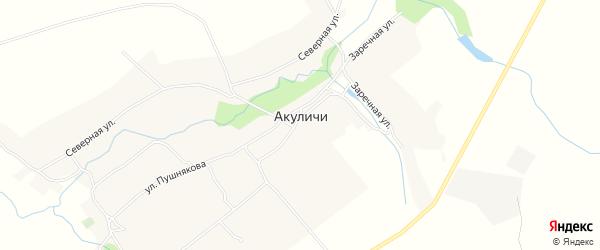 Карта села Акуличи в Брянской области с улицами и номерами домов