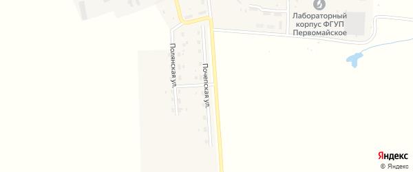 Почепская улица на карте Первомайского поселка с номерами домов