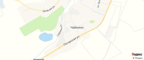 Карта поселка Чайкино в Брянской области с улицами и номерами домов