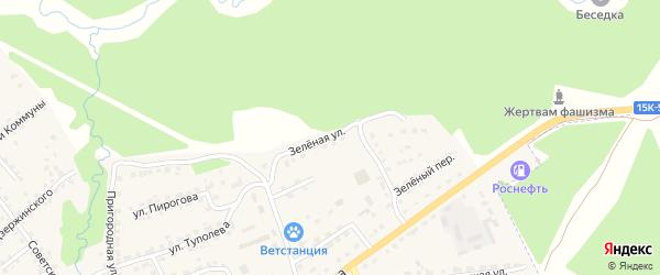 Зеленая улица на карте поселка Клетня с номерами домов