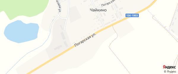 Погарская улица на карте поселка Чайкино с номерами домов