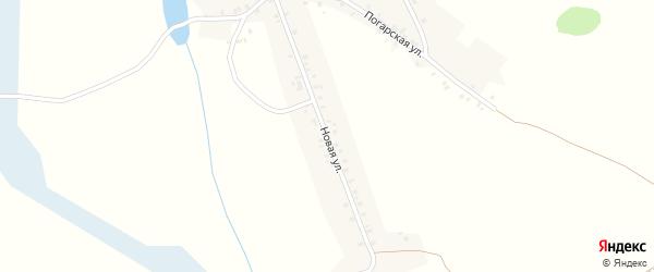 Новая улица на карте деревни Мадеевки с номерами домов