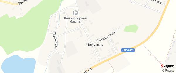 Светлая улица на карте поселка Чайкино с номерами домов