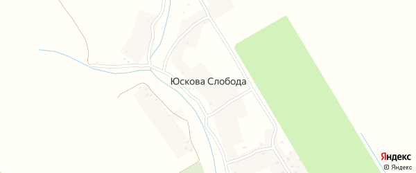 Нагорная улица на карте деревни Юсковой Слободы с номерами домов
