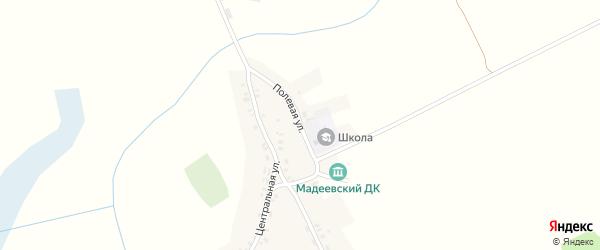 Полевая улица на карте деревни Мадеевки с номерами домов
