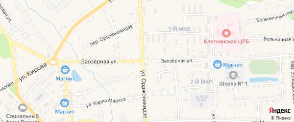 Заозерная улица на карте деревни Еловки с номерами домов
