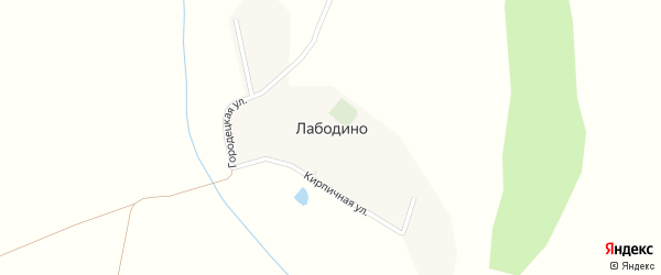 Кирпичная улица на карте деревни Лабодино с номерами домов