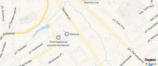 Лесная улица на карте поселка Клетня с номерами домов