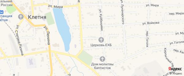 Переулок Куйбышева на карте поселка Клетня с номерами домов