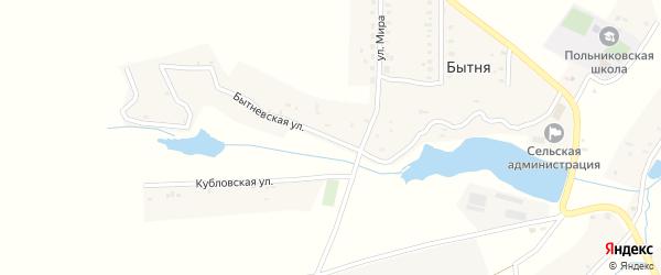 Бытневская улица на карте деревни Бытни с номерами домов