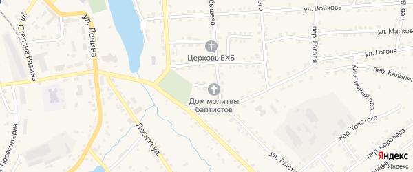 Переулок Фурманова на карте поселка Клетня с номерами домов