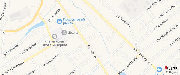 Лесной переулок на карте поселка Клетня с номерами домов