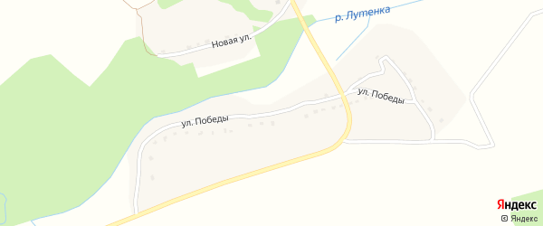 Улица Победы на карте деревни Павлинки с номерами домов