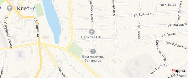 Улица Фурманова на карте поселка Клетня с номерами домов