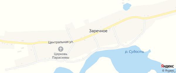 Центральная улица на карте Заречного села с номерами домов