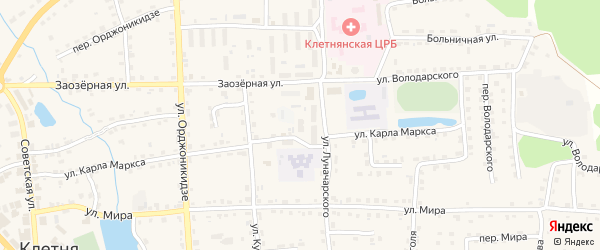 2-й микрорайон на карте поселка Клетня с номерами домов