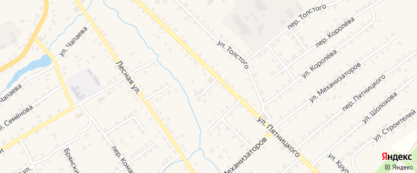 Проезд Пятницкого на карте поселка Клетня с номерами домов