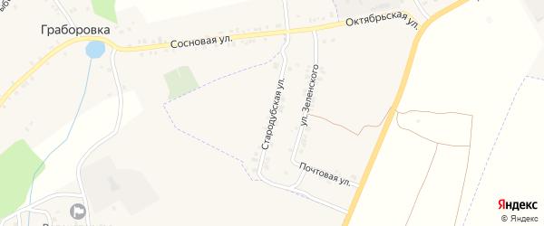 Стародубская улица на карте поселка Погара с номерами домов