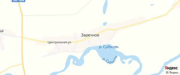 Карта Заречного села в Брянской области с улицами и номерами домов