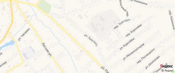 Улица Толстого на карте поселка Клетня с номерами домов
