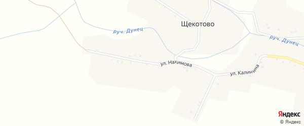 Улица Нахимова на карте деревни Щекотово с номерами домов