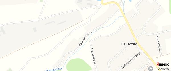 Пашковская улица на карте деревни Пашково с номерами домов
