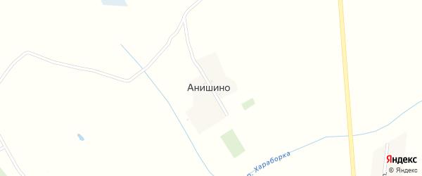 Луговая улица на карте деревни Анишино с номерами домов