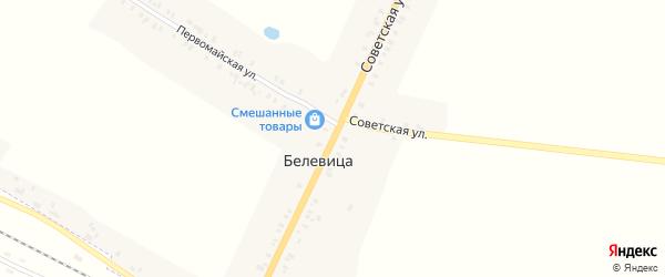 Советская улица на карте поселка Белевицы с номерами домов