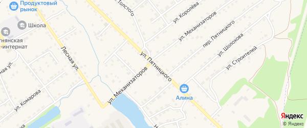 Улица Пятницкого на карте поселка Клетня с номерами домов