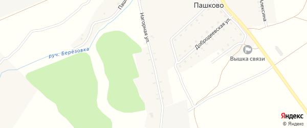 Нагорная улица на карте деревни Пашково с номерами домов