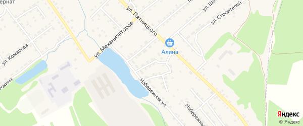 Верхний переулок на карте поселка Клетня с номерами домов