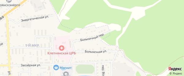 Больничный переулок на карте поселка Клетня с номерами домов