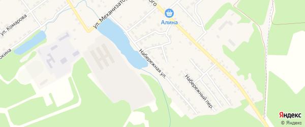 Набережная улица на карте поселка Клетня с номерами домов