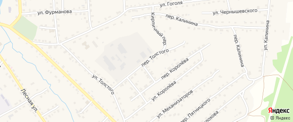 Переулок Толстого на карте поселка Клетня с номерами домов