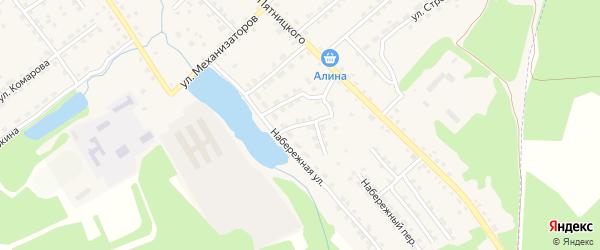 Южный переулок на карте поселка Клетня с номерами домов
