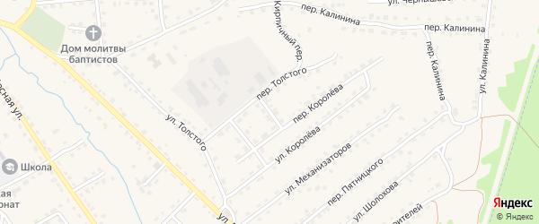 Пионерский переулок на карте поселка Клетня с номерами домов