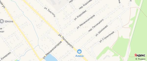 Улица Механизаторов на карте поселка Клетня с номерами домов