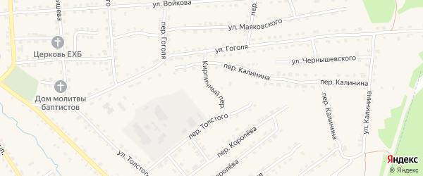 Кирпичный переулок на карте поселка Клетня с номерами домов