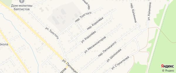 Улица Королева на карте поселка Клетня с номерами домов