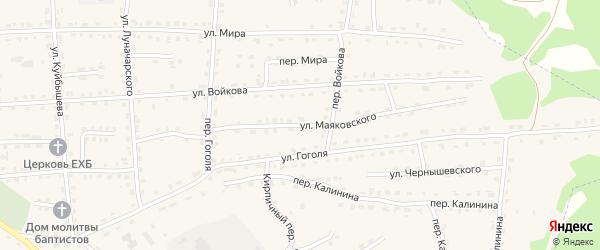 Улица Маяковского на карте поселка Клетня с номерами домов