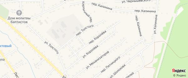 Переулок Королева на карте поселка Клетня с номерами домов