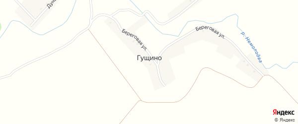 Огородная улица на карте деревни Гущино с номерами домов