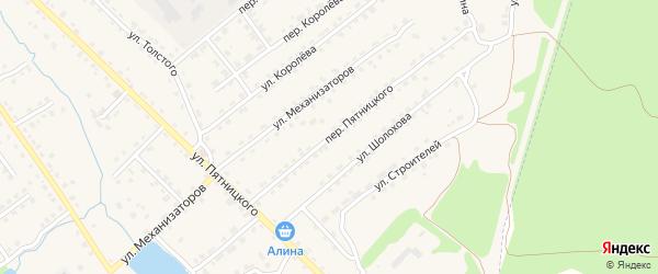Переулок Пятницкого на карте поселка Клетня с номерами домов