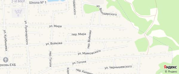 Переулок Войкова на карте поселка Клетня с номерами домов