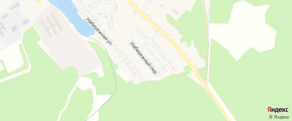 Набережный переулок на карте поселка Клетня с номерами домов